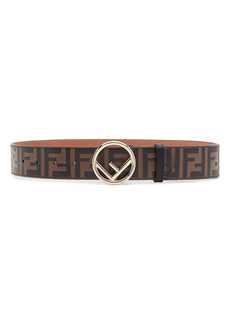 F Is Fendi Logo Leather Belt