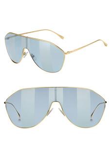 Fendi 146mm Stripe Lens Shield Sunglasses