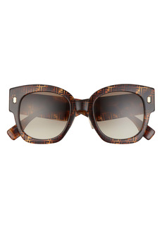 Fendi 52mm Gradient Square Sunglasses
