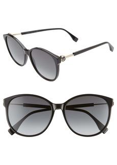 Fendi 58mm Gradient Cat Eye Sunglasses
