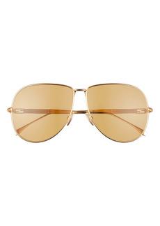 Fendi 63mm Oversize Aviator Sunglasses
