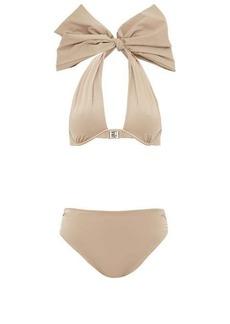 Fendi Bow halterneck high-rise bikini