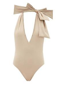 Fendi Bow halterneck swimsuit