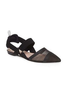 Fendi Colibri Mesh Pointed Toe Slingback Flat (Women)