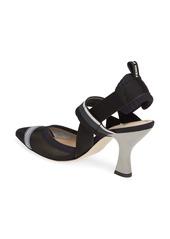 Fendi Colibri Mesh Slingback Pointed Toe Pump (Women)