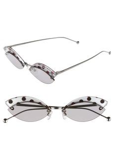 Fendi Defender 58mm Cat Eye Sunglasses