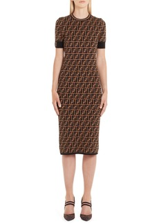 Fendi FF Logo Knit Dress