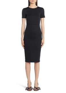 Fendi FF Logo Side Tape Jersey Dress
