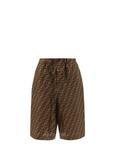 Fendi FF-print silk shorts