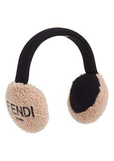 Fendi Genuine Shearling Earmuffs