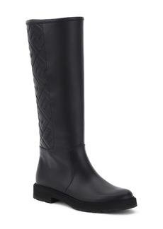 Fendi Logo Embossed Knee High Boot (Women)