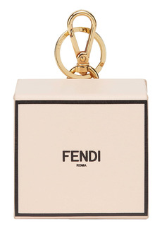 Fendi Logo Mini Box Bag Charm