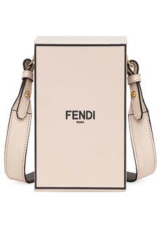 Fendi Logo Vertical Box Leather Bag