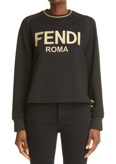 Fendi Metallic Logo Sweatshirt