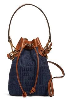 Fendi Mini Mon Tresor Logo Denim Bucket Bag