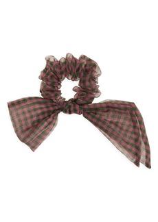 Fendi Silk Organza Bow Scrunchie