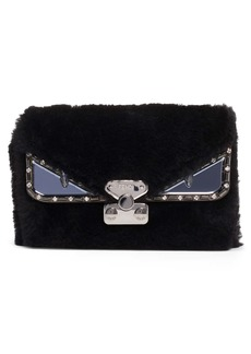 Fendi Small Bag Bug Genuine Shearling Crossbody Bag