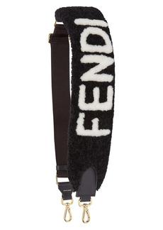 Fendi Strap You Logo Genuine Shearling Bag Strap