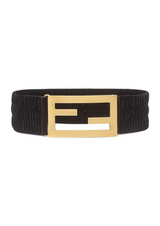 Fendi FF Logo Velvet Stretch Belt
