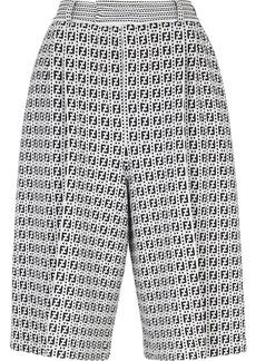 Fendi FF-motif satraight-leg Bermuda shorts