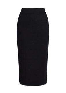 Fendi FF Outline Knit Pencil Skirt