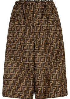 Fendi FF-print knee-length shorts