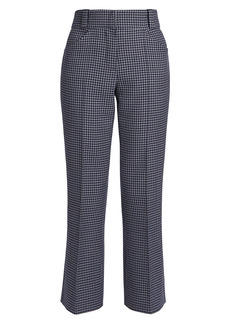 Fendi Gingham Cashmere-Blend Tailored Pants