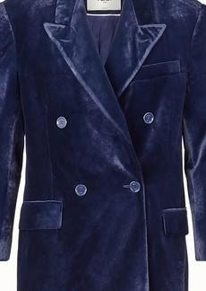 Fendi Blue velvet blazer