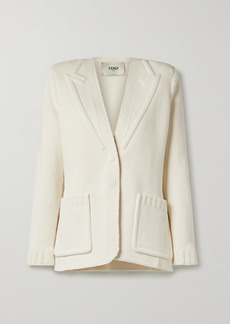 Fendi Jacquard-knit Cotton-blend Cardigan
