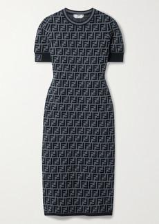 Fendi Jacquard-knit Midi Dress