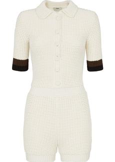 Fendi knitted short-sleeve romper