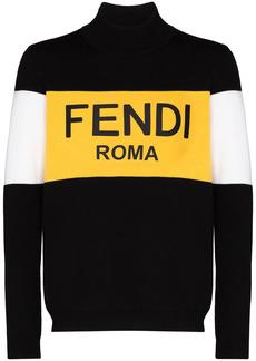 Fendi colour-block knit jumper