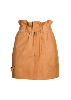 Fendi Paperbag Waist Cotton Skirt
