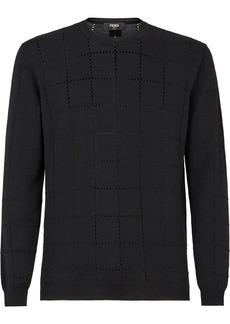 Fendi perforated knit wool jumper