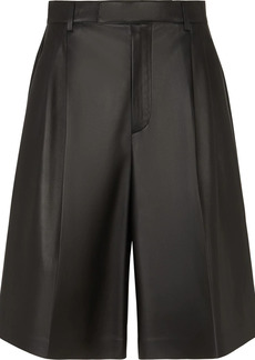 Fendi pleated high-waisted shorts