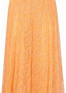 Fendi Orange lace skirt