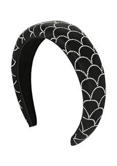 Ferragamo 3cm Embellished Padded Satin Headband