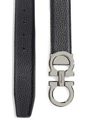 Ferragamo Adjustable & Reversible Double Gancini Buckle Belt