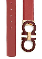 Ferragamo Adjustable & Reversible Double Gancini Buckle Belt