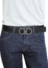 Ferragamo Adjustable & Reversible Gancini Buckle Belt