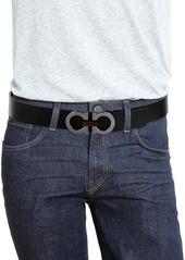 Ferragamo Adjustable & Reversible Gancini Buckle Belt with Briarwood Detail