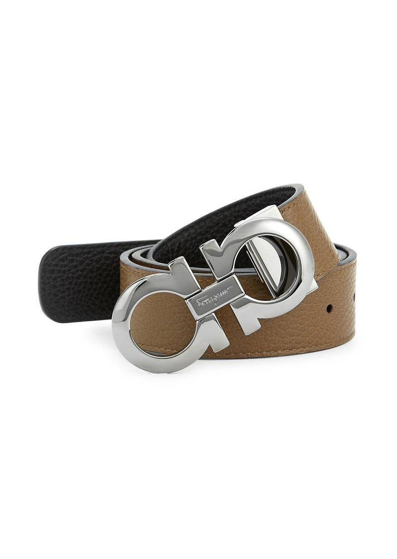 Ferragamo Adjustable & Reversible Gancini Leather Belt
