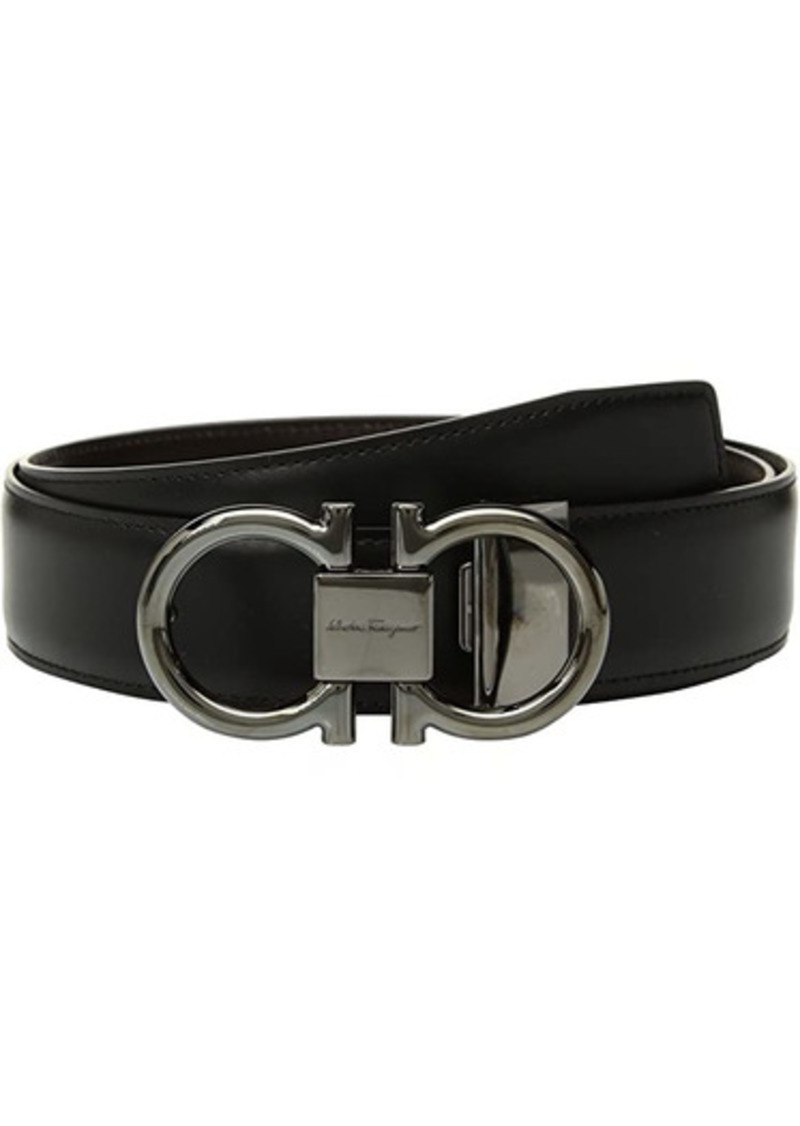 Ferragamo Adjustable/Reversible Double Gancini Dress Belt