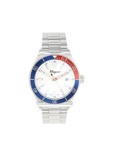 Ferragamo Colorblock Stainless Steel Bracelet Watch