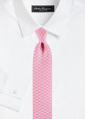 Ferragamo Double Gancini Silk Tie
