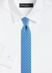 Ferragamo Gancini Woven Silk Tie