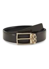 Ferragamo Logo Hardware Leather Belt