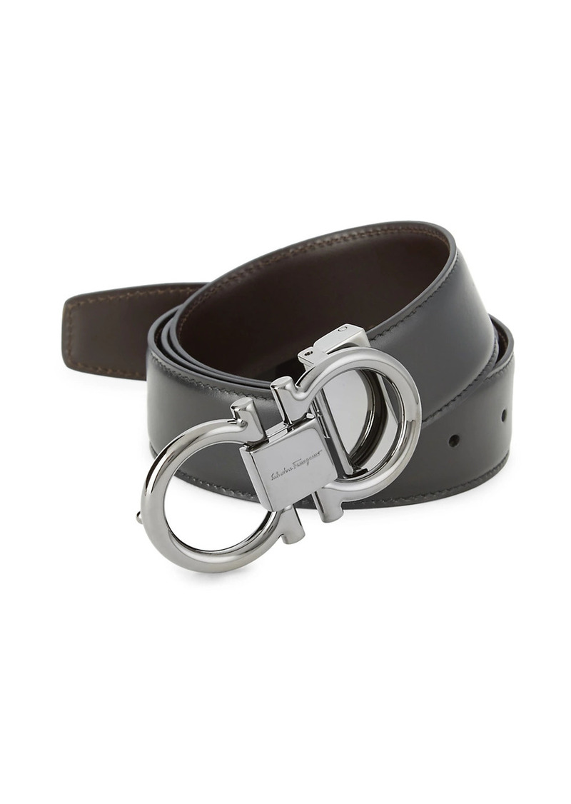 Ferragamo Reversible Gancini Buckle Belt