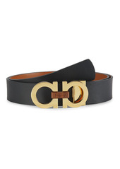 Ferragamo Reversible Gancini Buckle Leather Belt