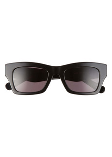 Salvatore Ferragamo 51mm Rectangle Sunglasses